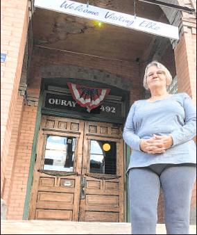 After initially deciding against seeking re-election, Ouray City Councilor Bette Maurer changed her mind. The club manager at the Elks Lodge said she wants to see the effort to build a new wastewater treatment plant through to its conclusion and help develop more affordable housing. Plaindealer photo by Mike Wiggins