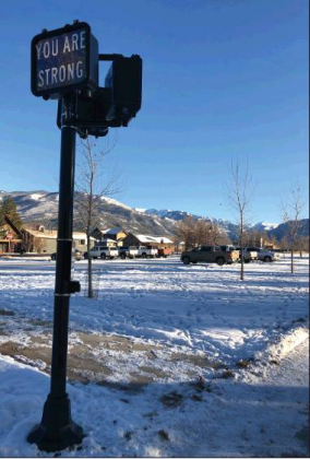"Erin McIntyre — Ouray County Plaindealer Public Art Ridgway Colorado recently installed an interactive art exhibit known as an ""Affirmation Station"" at Hartwell Park. It was created by Denver artist Timothy C. Flood."