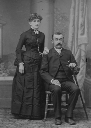 Above: Photo of Jesse and his wife Elton, taken between 1886 and 1888, when he was 52-54 years old, a couple of years after he shot and killed Luther Harris. Photos courtesy Ouray County Historical Society