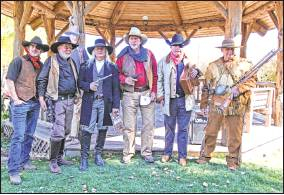 Ridgway's Old West Fest attracted fans who participated in a costume contest, including John Wayne look-alikes and villains. Photo courtesy Ed Bovy.