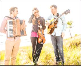 One for the Foxes performs Saturday in Ouray. The trio includes Coloradan Johanna Hyde of Denver, who plays the fiddle. Courtesy photo