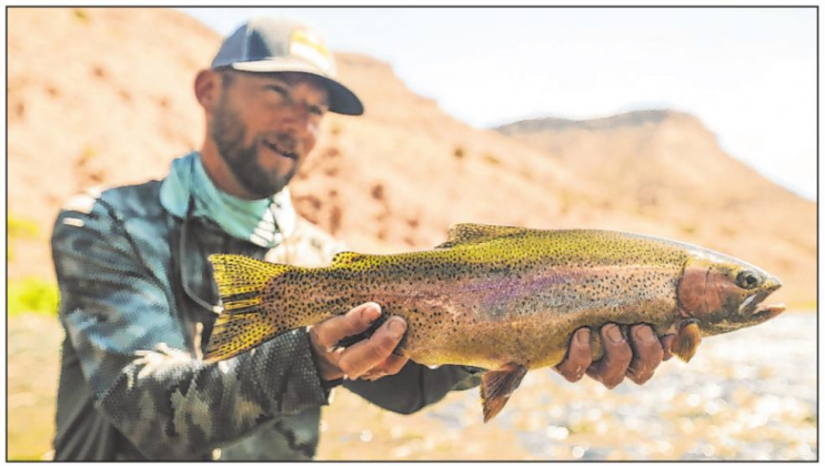 Rainbow trout are making a comeback in the Gunnison River, a popular fly fishing area of the Gunnison Gorge at the west end of Black Canyon. Photo courtesy Hog Leg Fly Fishing Productions