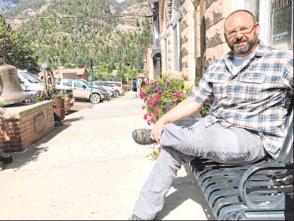Justin Perry served as Ouray police chief for six years before he became the city administrator in June, and he's applying principles he learned in law enforcement — building trust, collaborating with the community — to his new position. Plaindealer photo by Mike Wiggins