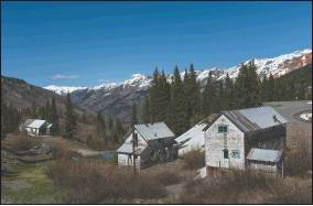 The Idarado Mine houses along U.S. Highway 550 between Ouray and Silverton are targeted for preservation by locals who hope to work with the property owner and the U.S. Forest Service, along with help from Ouray County. Photo courtesy Carol Highsmith/Library of Congress