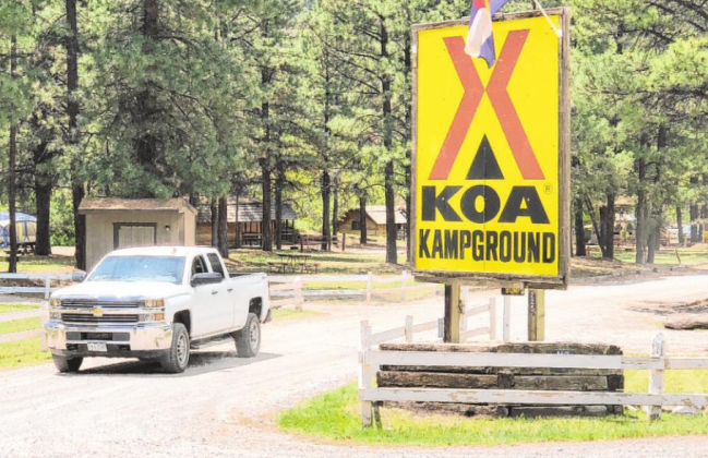 KOA remained open despite lodging limits
