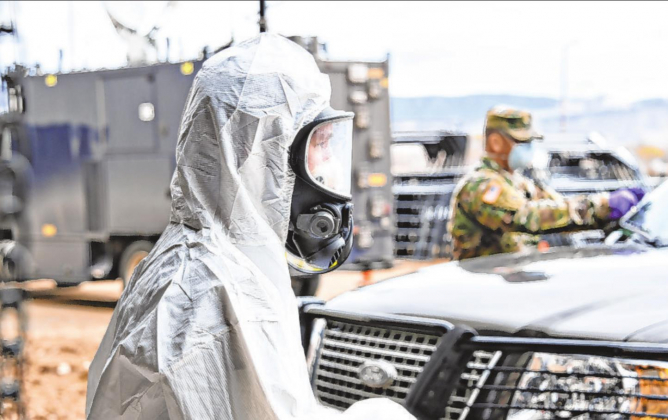 Montrose County conducts COVID-19 testing on Monday with assistance from the Colorado National Guard. As of Wednesday, 146 tests had been given in Montrose County, with four positive cases identified. Photo courtesy Montrose County