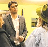 Avon Assistant Town Manager Preston Neill meets with residents at Ridgway Town Hall on Nov. 7. The Ridgway Town Council has hired Neill as the new town manager. Plaindealer photo by Erin McIntyre