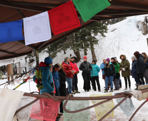 Climbers, family and community members memorialized Van Le Little on Monday at the Ouray Ice Park.
