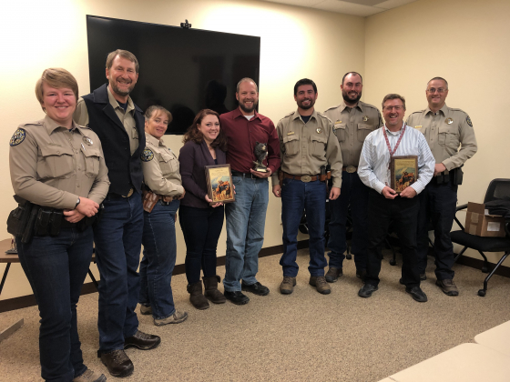 Colorado Parks and Wildlife recognized the 7th Judicial District Attorney's office for its work prosecuting wildlife cases.