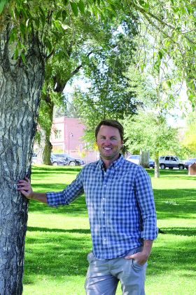 Colin Lacy, 34, is reflecting on his time as Ridgway Area Chamber of Commerce board of directors president after announcing he's stepping down. Lacy said he's proud of the chamber's transformation in the past few years. Plaindealer photo by Erin McIntyre