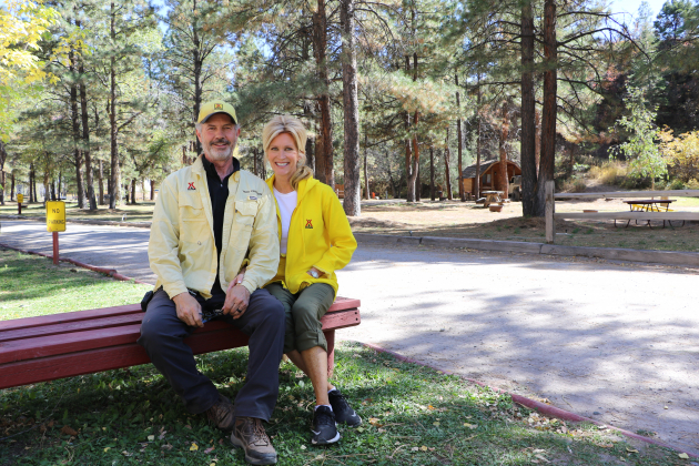 Troy and Penny Crosson, who took over management of the Ouray KOA earlier this month and are scheduled to close on the purchase of the campground in January, will keep the campground open for the winter for the first time in its history in the hope of filling cabins like the one in the background.