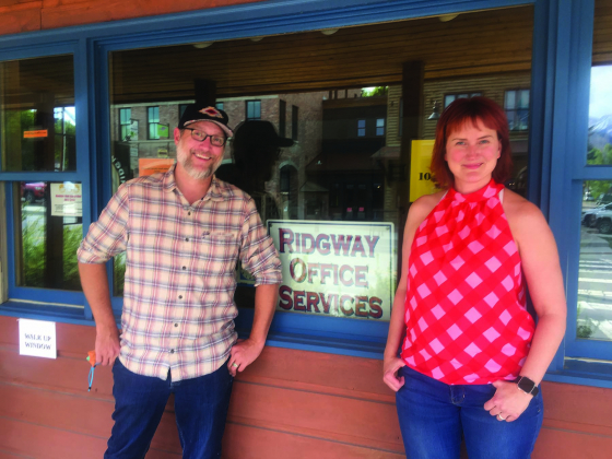 The new owners of Ridgway Office Supply, Spencer Fuller and Erin Graham, are eager to carry on the store's well-established services as well as venture into a mailbox service.
