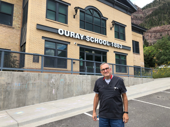 New Ouray School nurse Anthony Disser has spent more than 40 years work ing in health care, including several management positions. He was already making plans to move here before taking the part-time job. Now he's leading the district's efforts to prevent the spread of COVID-19. Liz Teitz - Ouray County Plaindealer