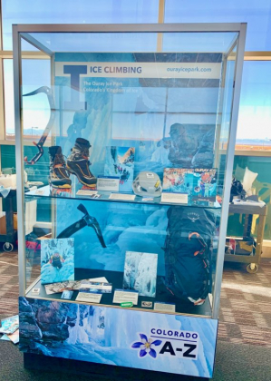 The ice park's display is featured at Denver International Airport. Courtesy photo.