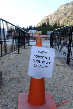 The Ouray Hot Springs Pool is turning away paying customers when the capacity reaches 50 swimmers.
